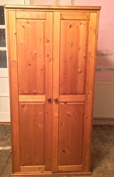 Pine Wardrobe Double Doored
