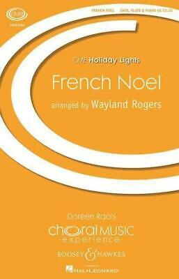 French Noel  SATB Flute Piano Children's Choir Ad Lib. Music Book SCORE ONLY ()