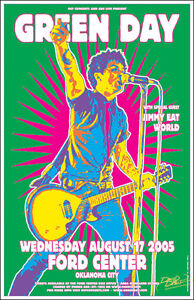 Green Day Concert Poster Ebay