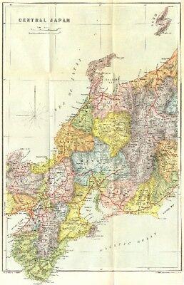 JAPAN. Central 1907 old antique vintage map plan chart