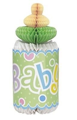 BABY SHOWER Polka Dots Green BOTTLE HONEYCOMB DECORATION ~Party Supplies Neutral - Baby Shower Decorations Neutral