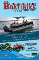 2015 FREDERICTON BOAT/BIKE SHOW&SALE MAY 22/23/24