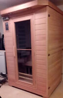 Sauna Room with Carbon Heaters