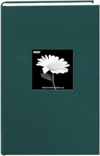 "Pioneer Fabric Frame Cover Photo Album 300 Pockets 4""x6"" Photos, Majestic Teal"