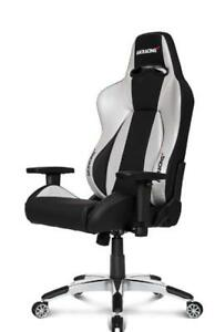 AKRacing Premium Gaming Chair Silver & Black V2 (K700B)