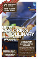 METIS CAMP, AGES 15-18, LEARN TO COOK, EARN FOODSAFE!