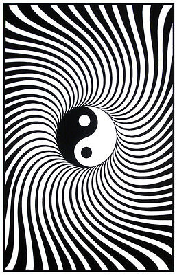Yin Yang Blacklight Poster Peace Black Light Poster Awesome Room Decor !](Blacklight Room Decor)