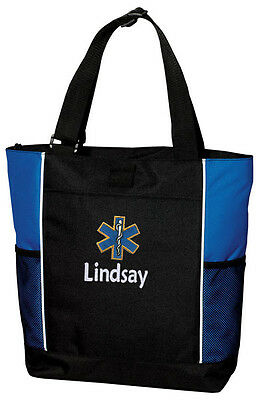 Emt Ems Embroidered Panel Tote Bag