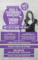"""Work with NBC's """"The Voice"""" Tamara Beatty - Wed, May 6th"""