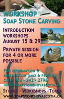 Workshop Soap stone carving Aug 15 Melvern Square
