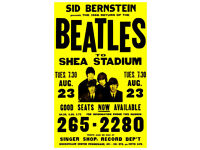 0595 Vintage Music Poster Art The Beatles Shea Stadium