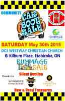 Rummage Sale at Westway & Kipling! Sat. May 30th 2015