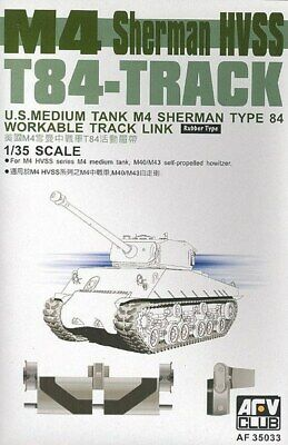 Afv Club 35033-1/35 Workable M4 Sherman Hvss T84-Track Nuevo