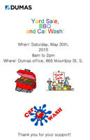Dumas Rocks Yard Sale, BBQ, and Car Wash!!
