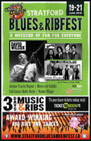 Stratford Blues and Ribfest 2015 JUNE 19th – 21st