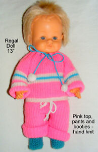 "13"" Regal doll, soft,wets, head rotates,  knit clothes"