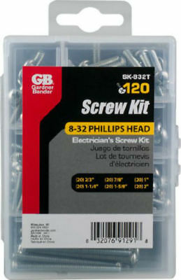 Gardner Bender Sk-832t Electricians Screw Kit 832 Phillips Head 120-count