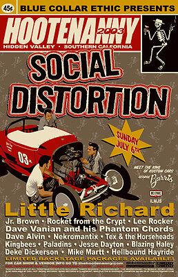 ORIGINAL 2K3 SOCIAL DISTORTION LITTLE RICHARD SOCAL HOOTENANNY CONCERT HANDBILL