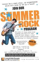 Summer Rock - Come see what it's like to be in a band!