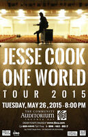 Two tickets: Jesse Cook One World Tour May 26th in Auditorium