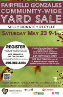 Community-Wide Yard Sale/Donation/Recycle event 2015