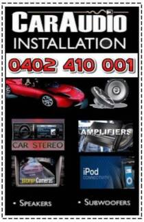 Car Audio/Stereo Installation, reverse sensors, camera and etc