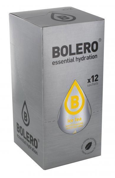 Bolero Drink - Ice Tea Zitrone Instant Getränkepulver - 12 Beutel für 18 - 60 L