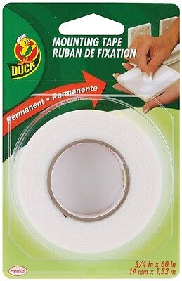 Double Sided Permanent Foam Mounting Tape Duck Brand 3/4 in x 60 (Duck Brand Double Sided Foam Mounting Tape)