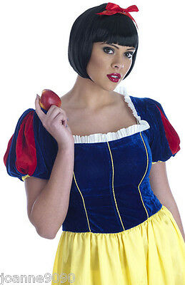 Fancy Dress Costumes Plus Size (Ladies Womens Fairytale Princess Snow White Long Fancy Dress Costume Plus)