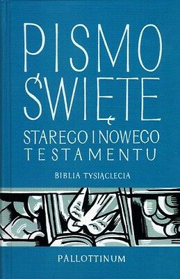 Polish Bible, Polska Biblia Tysiaclecia, Pismo Swiete 12x18 cm