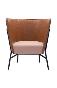 LEATHERETTE ACCENT CHAIR ARMCHAIR