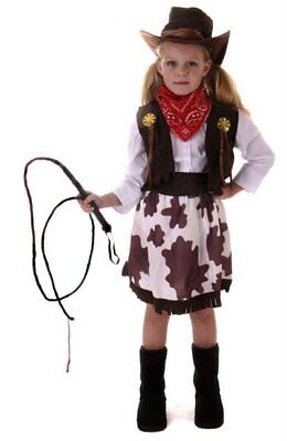 COWGIRL GIRLS HALLOWEEN FANCY COSTUME  COW GIRL  ASSORTED SIZES FREE UK P+P