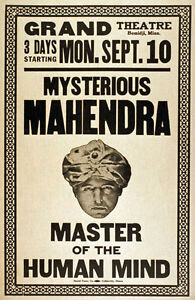 M39-Vintage-1923-Mind-Reader-Magic-Poster-A1-A2-A3