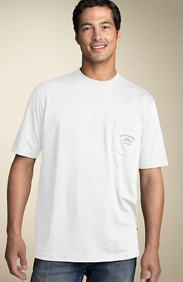 Tommy Bahama Mens T Shirt Bali High Tide Pocket Relax White Embroidered M Xl  48