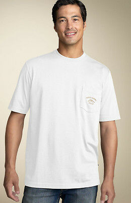 TOMMY BAHAMA Mens T-Shirt BALI HIGH TIDE POCKET Relax WHITE Embroidered M-XL $48