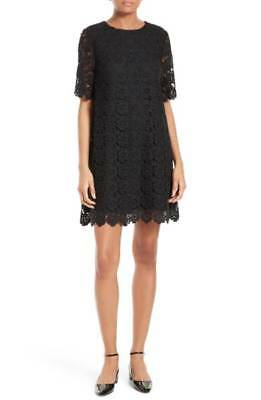 NWT Kate Spade New York Daisy Lace Floral Shift Dress Black 6 $448.00