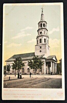 St. Michael's Church Charleston South Carolina SC Postcard PC Circa 1910 (Church St Charleston Sc)