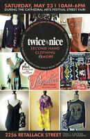 Twice is Nice Second Hand Clothing Sale