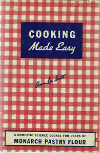 VINTAGE COOKBOOK MONARCH  AND MAPLE LEAF 1947