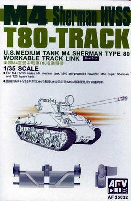 Afv Club 35032 - 1/35 Sherman Hvss T80 Workable Track  - Neu