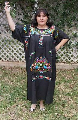 3XL Assorted Plus Size Peasant Hippie Boho Tunic Hand Embroidered Mexican - Hippie Plus Size