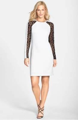 NWOT JULIA JORDAN WOMEN'S LACE PANEL SHEATH DRESS SIZE 8