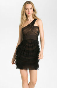 New Bcbg Maxazria Ella One Shoulder Cocktail Dress 338
