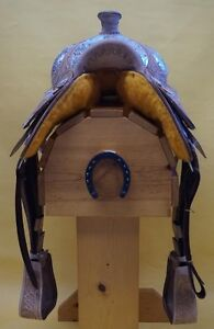 "16"" Western Show Saddle+Tack Light Colour~DEAL$799~New+Warranty London Ontario image 8"