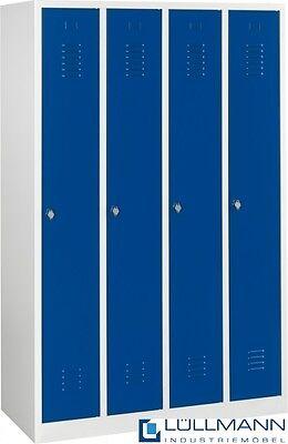 SPIND SPINT 4er Umkleide Stahl Kleiderschränke Gaderobenschrank  blau 510141 NEU