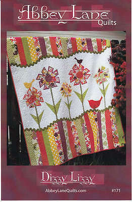 DIZZY LIZZY QUILT QUILTING PATTERN, Use Fat Quarters From Ab