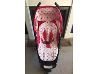 Petite Star Zia pink buggy / Stroller used