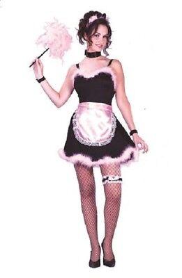 French Maid Flirt 7 pc Teen Costume Juniors 0-9 - Costume French Maid