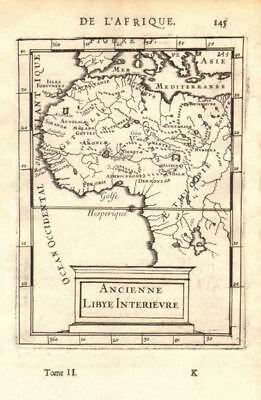 WEST AFRICA/MAGHREB Tribes Garamantes Getgulie 'Ancienne Libye'. MALLET 1683 map