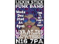 Lickin Stick James Brown Inspired Funk band